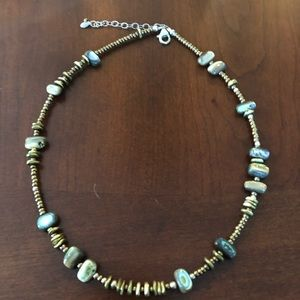 Silpada abalone and seed bead necklace
